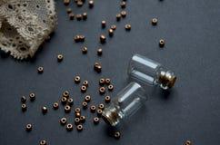 Botellas de Decirative fotografía de archivo libre de regalías