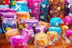 Botellas de flores del olor Foto de archivo libre de regalías