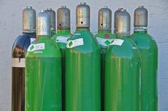 Botellas de gas del argón Imagen de archivo