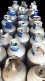 Botellas de gas del propano Fotografía de archivo libre de regalías
