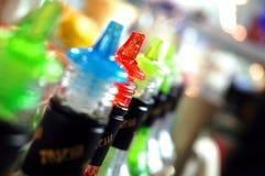 Botellas de la barra Fotos de archivo libres de regalías