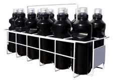 Botellas de la bebida en cajón de la bebida Imagen de archivo libre de regalías