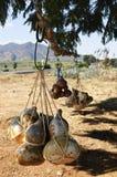 Botellas de la calabaza del Calabash en México imágenes de archivo libres de regalías