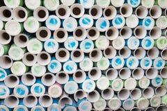 Botellas de la cerámica en el pueblo de cerámica antiguo de Trang del palo El pueblo de Trang del palo es el pueblo más viejo y m Fotografía de archivo libre de regalías