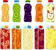 Botellas de la fruta Foto de archivo