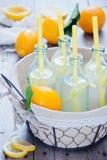 Botellas de la limonada de la cesta Fotografía de archivo