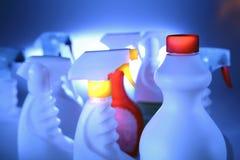 Botellas de la limpieza Foto de archivo libre de regalías