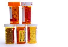 Botellas de la medicina Fotos de archivo libres de regalías