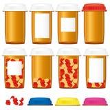 Botellas de la medicina Foto de archivo libre de regalías