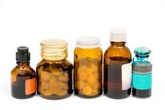 Botellas de la medicina Imágenes de archivo libres de regalías