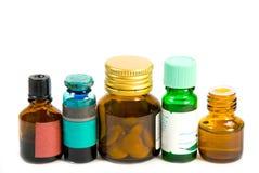Botellas de la medicina Fotografía de archivo