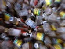 Botellas de la medicina de la falta de definición del zoom fotografía de archivo libre de regalías