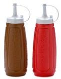 Botellas de la salsa Imagen de archivo