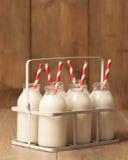 Botellas de leche de la vendimia Imagen de archivo libre de regalías