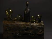 Botellas de los glas del viejo estilo foto de archivo libre de regalías