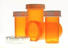 Botellas de píldora Imagen de archivo libre de regalías
