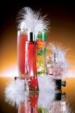 Botellas de perfume fotos de archivo
