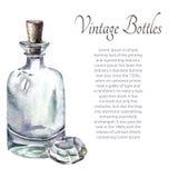 Botellas de perfume del vintage Foto de archivo