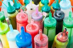 Botellas de pintura Fotos de archivo libres de regalías