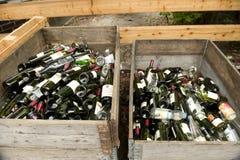 Botellas de Recicle Imágenes de archivo libres de regalías