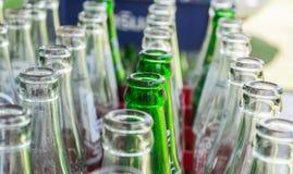 Botellas de refrescos Foto de archivo libre de regalías