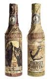 Botellas de Rugener alemán Ubersee Hopfen IPA y de Dubbel báltico b fotos de archivo