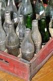 Botellas de soda viejas Imágenes de archivo libres de regalías
