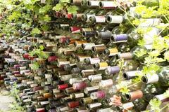 Botellas de un fenc del vino Fotos de archivo