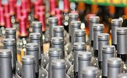Botellas de vino fotografía de archivo libre de regalías