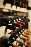 Botellas de vino Imágenes de archivo libres de regalías