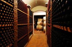 Botellas de vino Foto de archivo