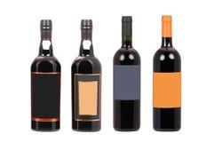 Botellas de vino foto de archivo libre de regalías