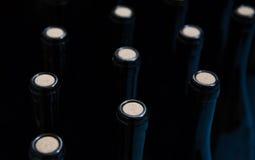 Botellas de vino de cristal Foto de archivo