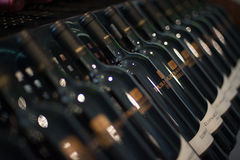 Botellas de vino de las colinas de Durbanville Fotos de archivo