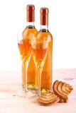 Botellas de vino del passito Fotos de archivo