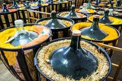 Botellas de vino viejas Foto de archivo libre de regalías