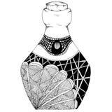 Botellas decorativas a mano, en estilo del zentangl Gráficos de vector Rebecca 36 ilustración del vector