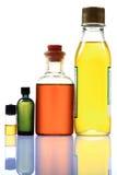 Botellas del aceite de cocina Foto de archivo libre de regalías