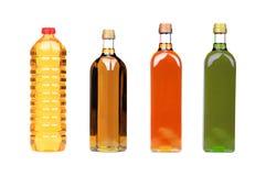 Botellas del aceite de cocina fotos de archivo libres de regalías