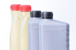 Botellas del aceite de motor Fotografía de archivo libre de regalías