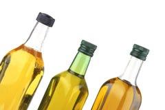 Botellas del aceite de oliva Fotos de archivo