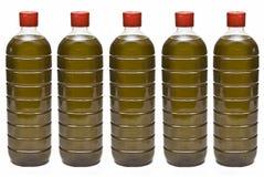 Botellas del aceite de oliva. Imagen de archivo