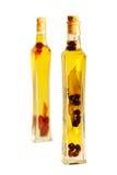 Botellas del aceite de oliva Imagen de archivo libre de regalías