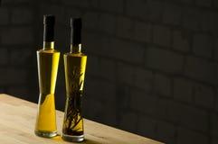 Botellas del aceite de oliva Foto de archivo libre de regalías