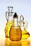 Botellas del aceite de oliva Fotografía de archivo