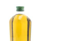 Botellas del aceite de oliva aisladas en blanco Fotos de archivo