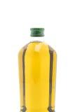 Botellas del aceite de oliva aisladas en blanco Foto de archivo