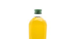 Botellas del aceite de oliva en blanco Imágenes de archivo libres de regalías