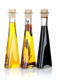 Botellas del aceite y del vinagre de oliva Fotografía de archivo libre de regalías