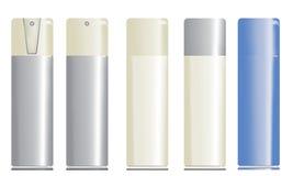 Botellas del aerosol Imágenes de archivo libres de regalías